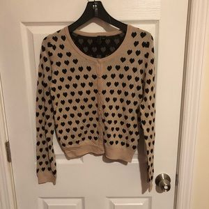 H & M Heart Cardigan Size 10 🖤